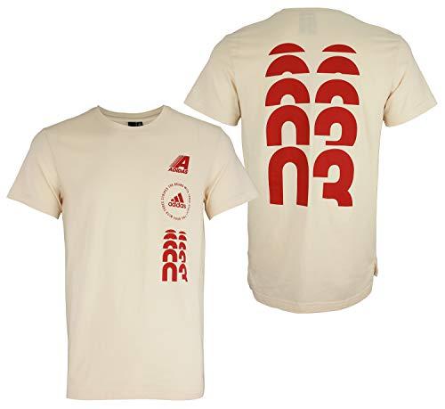 adidas Men's Hyperstack Graphic T-Shirt (Linen, Small)