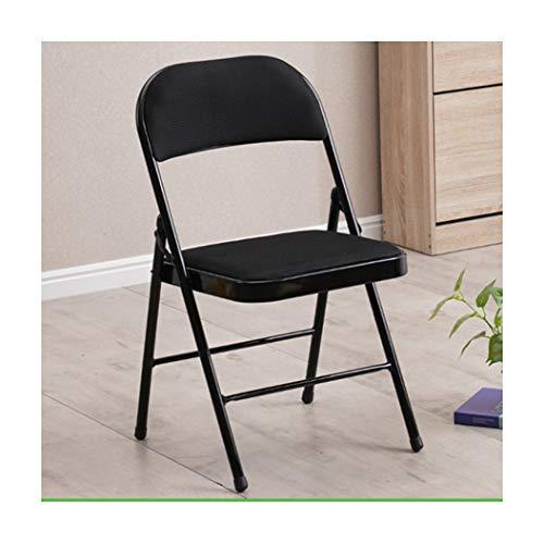 Afinder – Silla plegable negra de acero, silla plegable de metal, silla de jardín, silla de balcón, silla de comedor, 45 x 45 x 79 cm, para interior y exterior