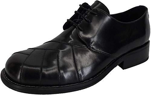 Ikon - Chaussures Zodiac en cuir pour homme - northern soul/ann?es 60-70 - noir - EU46 UK12