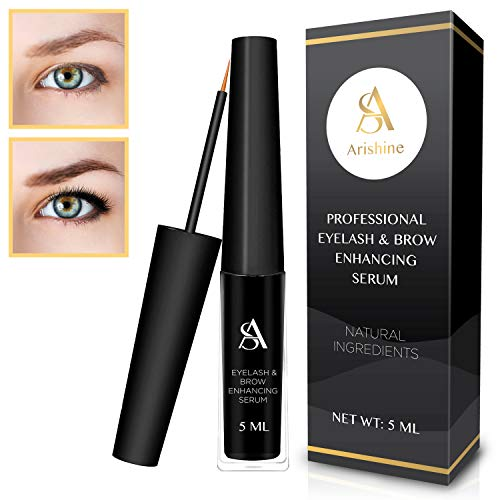 Price comparison product image Arishine Eyelash & eyebrow growth serum - natural eyelash growth enhancer & brow serum,  1.1 Ounce