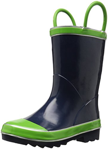Joules baby boys Rain Boot, Green Cow, 6 Infant US