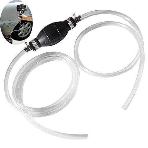 BonTime Benzin-Siphon-Schlauch-Transfer-Öl Wasser Kraftstoff Gas-Siphon-Pumpe Hand-Siphon-Pumpe mit Zwei umweltfreundlichen Schläuchen