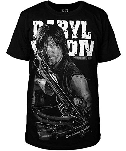 Xiemushop Daryl Dixon - Hunter T-Shirt schwarz Fan Geschenk Tshirt-Daryl Dixon Rick Michonne TV Serie Zombie Film- S-4XL