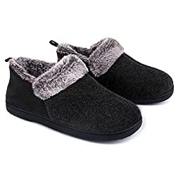commercial ULTRAIDEAS faux fur, cozy memory foam slippers for women with a warm and luxurious lining made of wool blend … boot type slippers