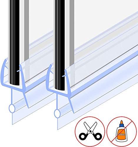 GOLDGE Duschdichtung 2x100CM Duschtür Dichtung Ersatzdichtung Glasstärke 4/5/6 mm für Duschkabine Glastür