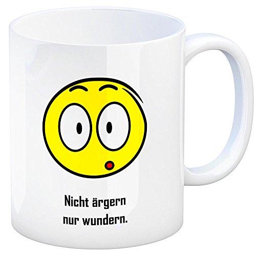 trendaffe - Kaffeebecher mit Spruch: Nicht ärgern nur wundern. Tasse Kaffeetasse Becher Mug Teetasse Büro Ärger was ist da los erstaunt staunen überrascht beeindruckt
