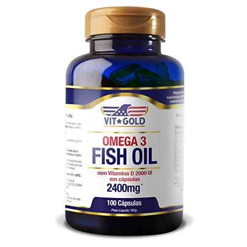 Omega 3 (Fish Oil) com Vitamina D3 2.400mg Vitgold 100 cápsulas