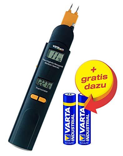Wetekom Feuchtigkeitsmesser 0-60% /Thermometer -10 bis +50°C + Batterien