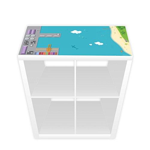 Nikima - Película de juegos para estantería Kallax, 76 x 38,5 cm, puerto e isla (muebles no incluidos)
