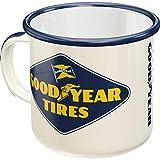 Nostalgic-Art Taza esmaltada retro, Goodyear – Logo – Idea de regalo para fans a coches y motos,...