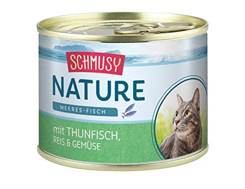 Schmusy Nature con atún, arroz y verduras, 12 x 185 g