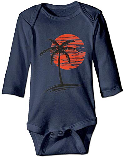 WlQshop Mono para Bebé,Mameluco Bebé Unisex Palm Tree Newborn Baby Boys Long Sleeve Bodies Bodiess