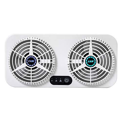 WishHome Ventilador de escape de doble ventana, ventilador de escape USB de ajuste de 3 velocidades para disipación de calor y ventilación herramienta de purificación de circulación de aire