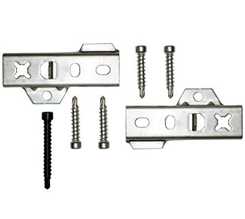 BioMaderas® Clips Edelstahl - verdeckte Befestigung für Terrassendielen (auch Tropenholz) mit 19mm bis 25mm Stärke (200)