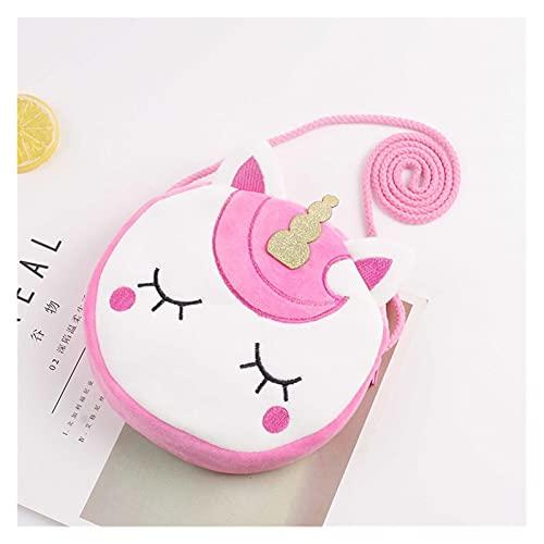 Homelus LINLIN Bambini Ragazze Borsa a Tracolla Carino Unicorn Animali Messenger Bag Kids Keys Keys Portamoneta Cute Princess Mini Handbag Sally (Color : 7)