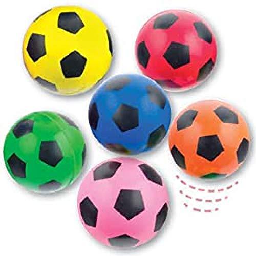 Baker Ross Fußball Flummis mit Supersprungkraft für Kinder als kleine Überraschung zum Fest (6 Stück)
