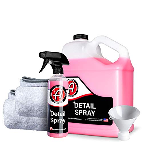 Adam's Detail Spray - Quick Waterless Detailer Spray for Car Detailing | Polisher Clay Bar & Car Wax Boosting Tech | Add Shine Gloss Depth Paint | Car Wash Kit & Dust Remover (Collection)