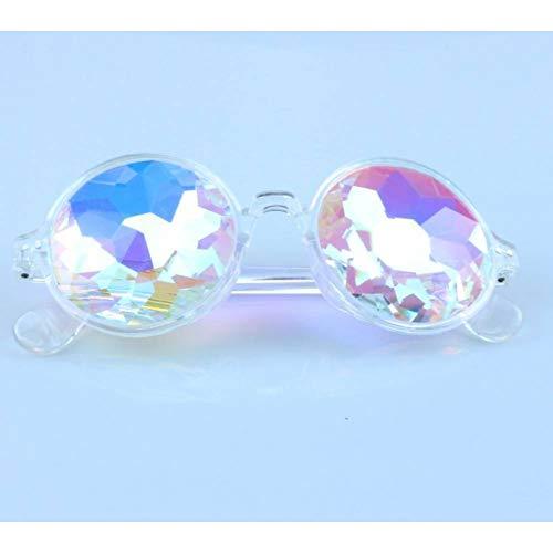ZYG999 Caleidoscoop rond Concert Glass facted glazen zonnebrillen kleurrijke Celebrity Glasses