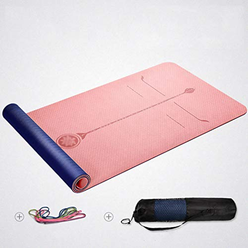 Kemeng Gymnastiekmatten, 8 mm hoge dichtheid, extra breed en dik, ultra duurzaam deurmat met netvak, voor de belangrijkste gymnastiek, anti-vermoeidheidsmatten