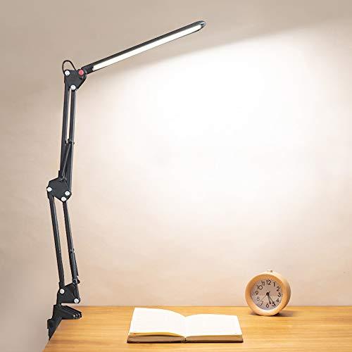 Lámpara de Escritorio LED Plegable, lámpara de Trabajo de Arquitecto, lámpara de Escritorio LED, lámpara de Mesa de Dibujo Regulable de Brazo Flexible de 6W, USB, luz de Lectura de Tres Modos