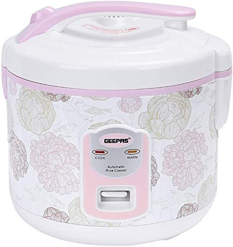Geepas 1.5 L Electric Rice Cooker with Steamer   500W   Non-Stick Inner Pot, Automatic Cooking, Easy Cleaning, High…