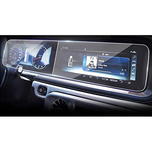 HANXIAOLONGA Protector de Pantalla de Coche, Accesorios Adhesivos de película Protectora de navegación GPS Multimedia Compatible Coche, Compatible Mercedes-Benz G500 / G63 / G350 W463 2019 202
