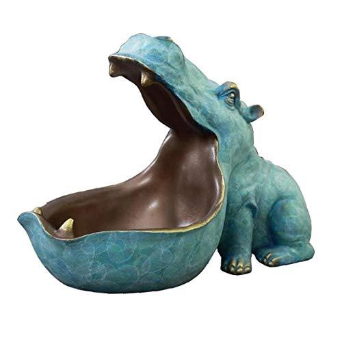 Resina Ippona Portachiavi Animal Ornamento tavolino della decorazione Light Blue per la casa del regalo degli accessori bagagli Porch