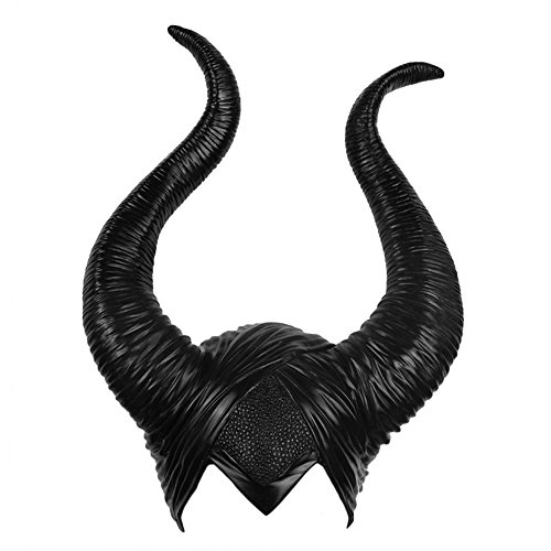 BIEE Halloween Latex Maleficent Hat Horns Evil Queen Custume Sombrero de Cosplay