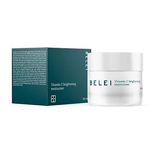 Marca Amazon - Belei - Crema hidratante iluminadora con vitamina C, 90.5% ingredientes naturales, vegana, 50 ml