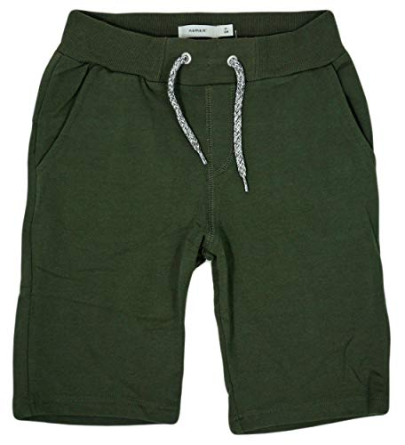 NAME IT Nkmhonk Unb SWE Long Noos - Pantalones cortos para niño Verde – Deep Depths 9 años