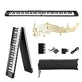 Piano eléctrico plegable de 88 teclas, Kacsoo-con Bluetooth, MIDI, pedal Sostenuto, aplicación inteligente con práctica de interpretación, 128 tipos de voz de piano electrónico