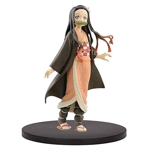 Anime Figura de acción muñeco, Demonio Slayer Anime Figura de acción Nezuko Kamado Figuras de PVC Coleccionable Modelo Estatua Estatua Toys Adornos de escritorio