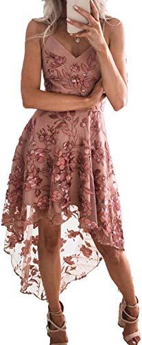 Vestido de moda para 2019 nuevo sexy cabestrillo irregular de encaje costuras de las mujeres vestido vendaje vestido de fiesta Onecolor 44