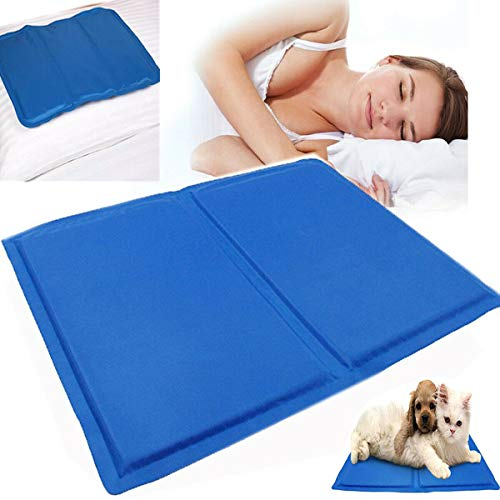 FiNeWaY Magic Multi Functional Cooling Gel Pillow Reusable Chilled Natural Comfort Sleeping Aid Body Cool Bed Mat Pad Size: 40cm x 30cm