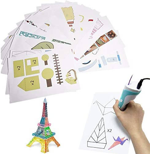3D Printer Drawing Molds Paper Stencils for 3D Printing Pen Printing Paper Painting Graffiti product image