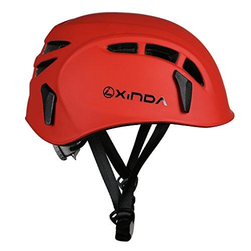 品 ハーフドーム ライミング用ヘルメット登山用ヘルメット防護帽 キャンプ アウトドア 装備 旅行用品 釣り帽子救援 赤