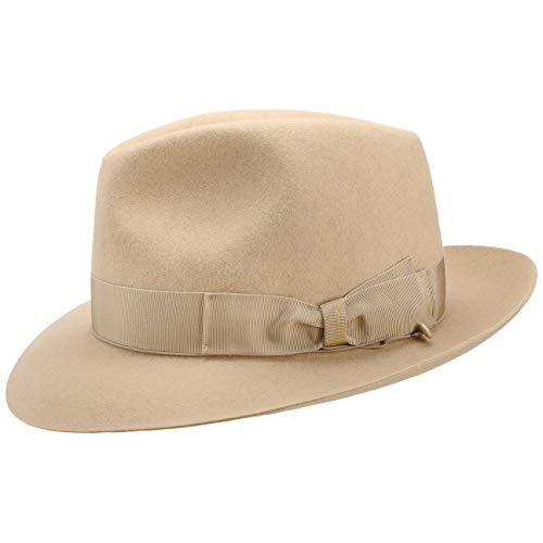 Borsalino Sombrero Fedora 50 Gramos Mujer/Hombre - Made in Italy de Fieltro Pelo Sombreros con Banda...