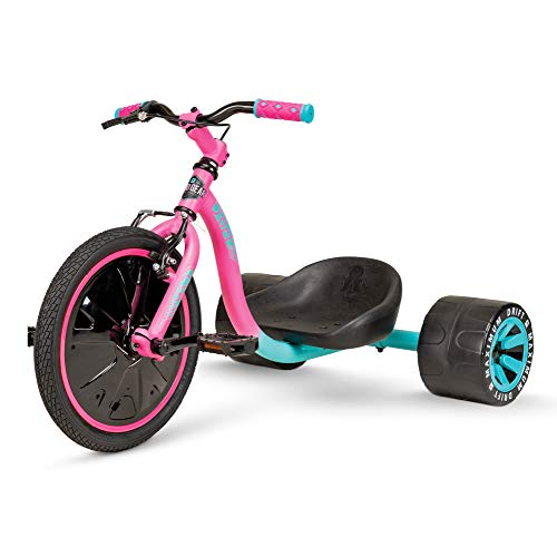 MG Mini Drift Trike – Suits Boys & Girls Ages 5+ - Max Rider Weight 150lbs – 3 Year Manufacturer's Warranty – Awesome Drifting Action – Built to Last Est. 2002 (Pink/Teal 2020)