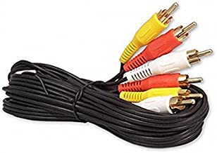 6FT RCA M/Mx3 Audio/Video Cable Gold Plated - Audio Video RCA Cable 6ft