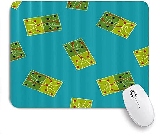 Alfombrilla de ratón para Juegos, Icono Plano de Tablero de Estrategia de Baloncesto, Alfombrilla de ratón con Base de Goma Antideslizante para Ordenadores portátiles Alfombrillas de ratón de 25 cm x