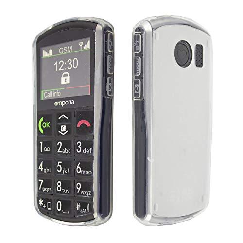 caseroxx TPU-Hülle für Emporia V25, Handy Hülle Tasche (TPU-Hülle in weiß-transparent)