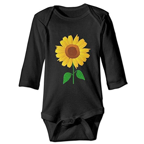 Baby Langarm Sonnenblume Clipart Onesies Bodysuit Fashion Romper Pyjama für Jungen Mädchen