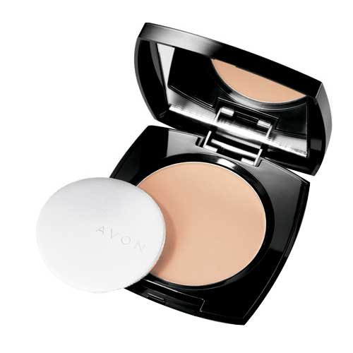 Avon TRUE COLOUR Kompaktpuder Light Medium mattierend