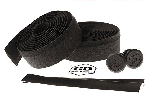 GD Grip Division Roubaix - Sehr Komfortables Rennrad Lenkerband - Eva/Silikon - 178 x 3 cm - schwarz
