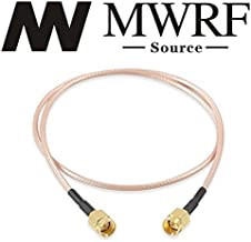 MWRF Source BNC Male to BNC Male RG316 Cable 20 Inches