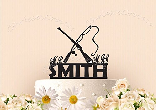 Hunting and Fishing Cake Topper