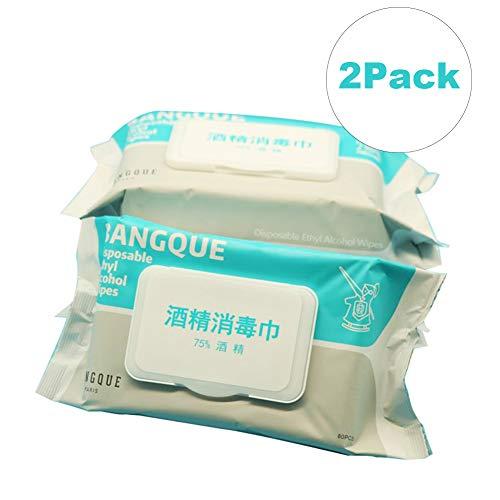 YWARX wegwerp-alcoholdoekjes, draagbare 75% alcohol vochtige doekjes, antiseptische sterilisatie-wipes, geschikt voor gezinnen alle dagelijkse bescherming