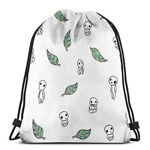 XCNGG Kuroshitsuji Chibi Waterproof Foldable Sport Sackpack Gym Bag Sack Drawstring Backpack