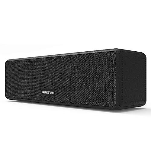 ZENWEN Drahtlose Bluetooth-Lautsprecher Mini Portable Subwoofer Stereoanlage mit AUX/USB/TF-Steckplätze, Langform Desktop-Stereoanlage R Handy Laptop kleine Stereoanlage (schwarz)