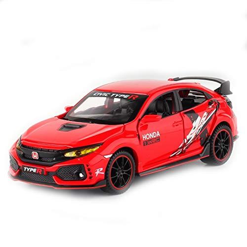 DXZJ 1:32 Para Hon&da CIVIC TYPE-R Diecasts y vehículos de juguete Metal Modelo de coche Sound Light Collection Juguetes de coche para niños (color 4)